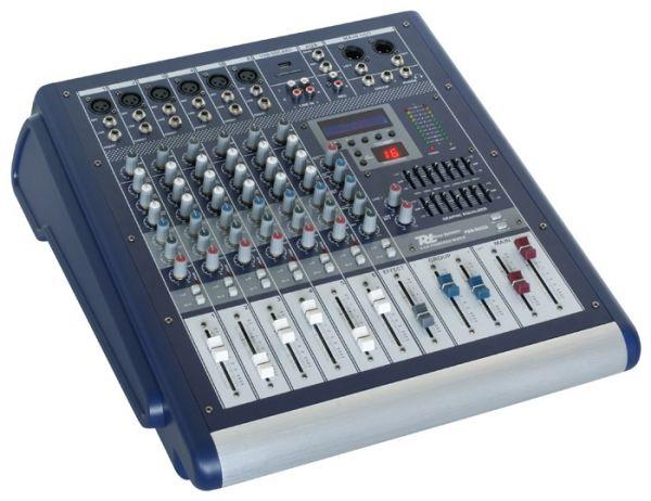 PD Power Dynamics PDM-S602A 6-Kanaals mixer met versterker DSP/MP3