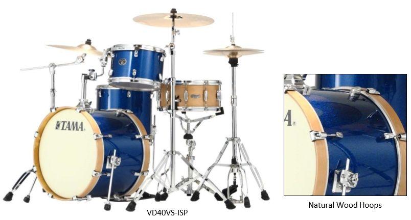 Tama VP42VS-ISP Blue sparkle Silverstar Vintage Schlagzeug limitiert shellkit 3dlg ohne Snare