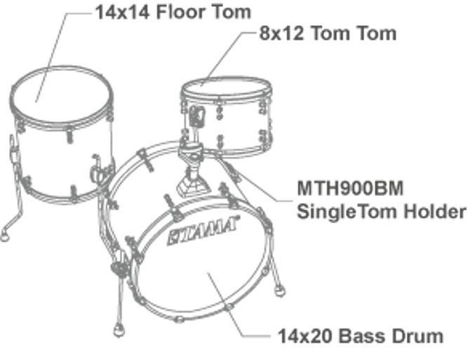 Tama LSP30CS-TWS SLP Fat Spruce 3-piece shell set