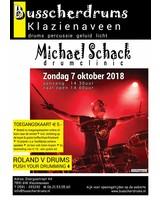 Busscherdrums Toegangskaart Drumclinic Michael Schack Zondag 7 oktober 2018
