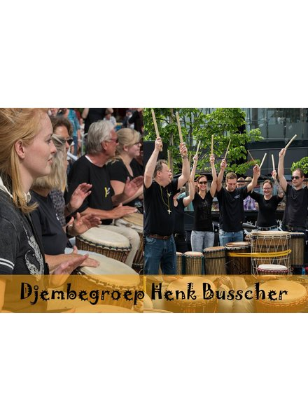 Busscherdrums djembe917F2-Fam2 Djem group HB course adults family-2 persons