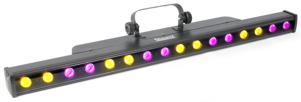 Beamz LCB48 Kleurenunit 16x 3W Tri-color LEDs DMX ledbar winkelmodel 2 pieces