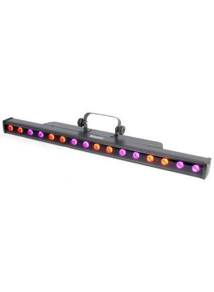 Beamz LCB48 Kleurenunit 16x 3W Tri-color LEDs DMX ledbar winkelmodel