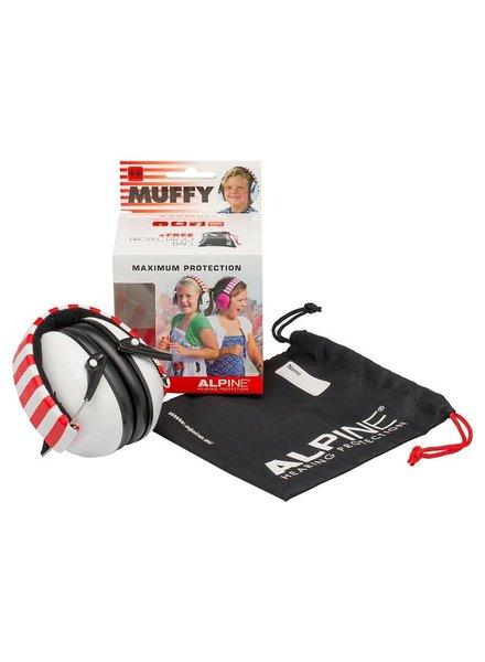 Alpine Muffy Kids weiß kapselgehorschutz