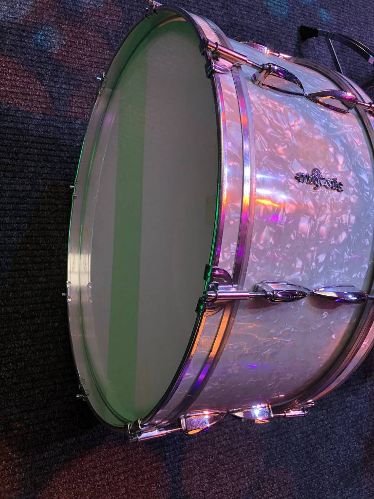 "Majestic Marching bass drum stadiontrommel 24 x 11"" vintage"