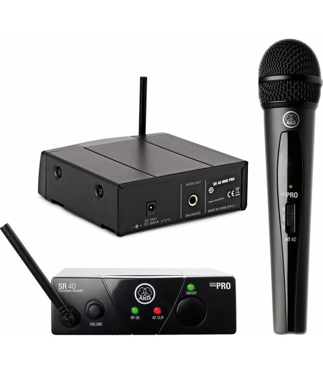 AKG WMS 40 pro mini wireless vocal set ISM2 864.375 MHz