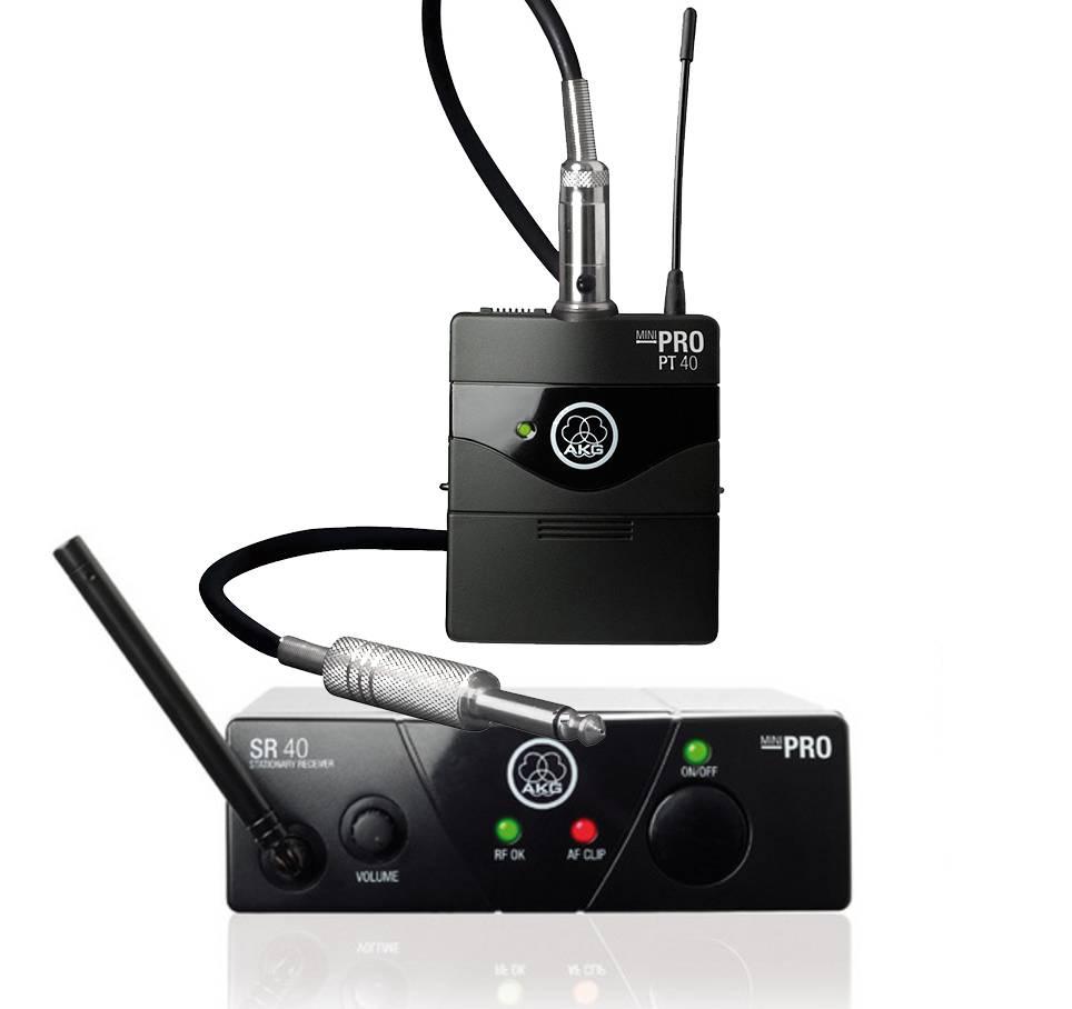 AKG WMS 40 pro mini wireless instrumental set ISM3 864.850 MHz