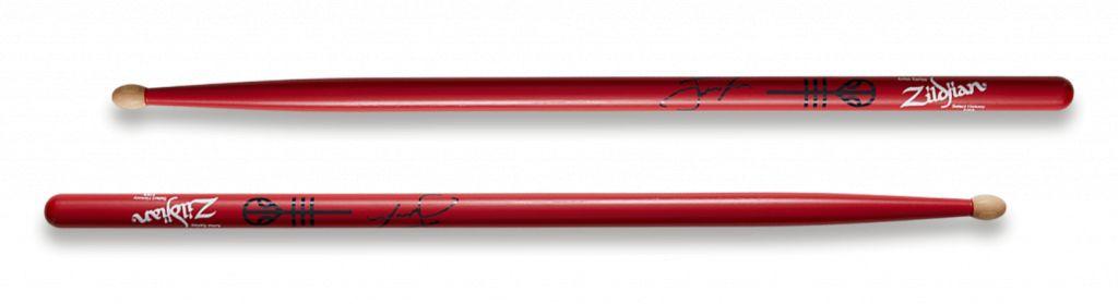 Zildjian  ASJD drumstokken Artist-serie, Josh Dun, Houten tip, rood ZIASJD