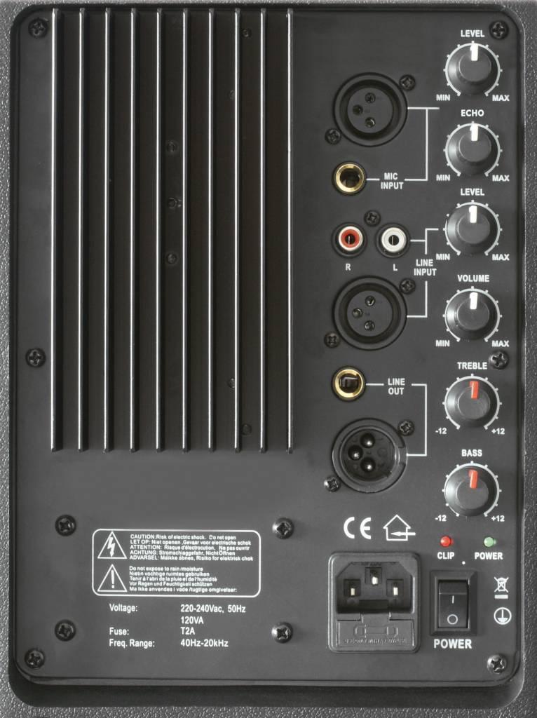 Skytec 178.051 SPJ1500AVHF SPJ-1500A Actieve Speaker 15 inch VHF incl. microfoon