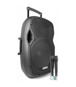 "Vonyx AP1500PA Mobiele Speaker met Accu 15"" Bluetooth/UHF/Mp3 170.337"