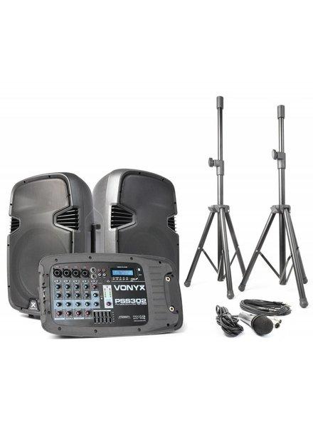 """VONYX PSS302 Geluidset 10"""" SD/USB/MP3/BT"""