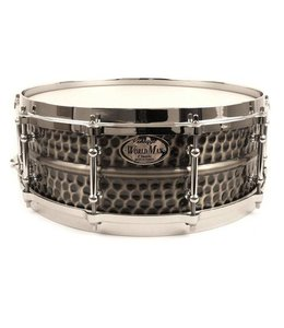 Worldmax WMA BKH-6514SH hammered Black Dawg 14 x 6.5 snare drum
