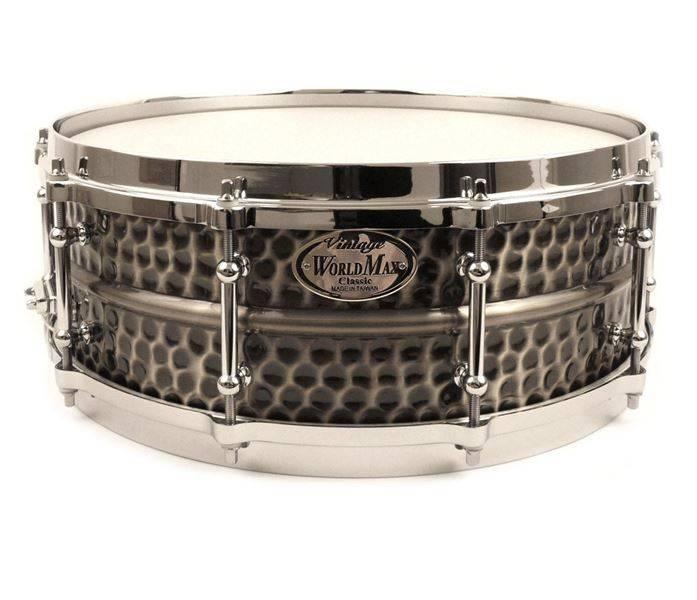 Worldmax WMA BKH-6514SH Black Dawg hammered brass 14 x 6.5 snare drum