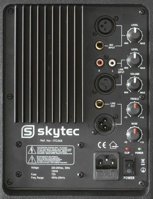 "Skytec SP1200A ABS Actieve PA Speaker 12"" 600W"