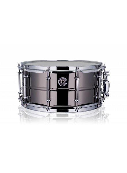 "Drum Gear  snaredrum black brass 14 x 6.5"" DGS-B1465 shop demo"