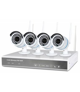 Fenton Draadloos Bewakingssysteem met 4 HD-camera's4 Cam Wireless NVR kit 1TB 351.183