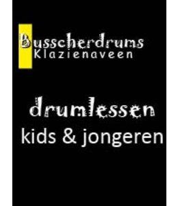 Busscherdrums Drumlessen maandkaart 40 minuten 1x per 14 dagen jongeren 6070