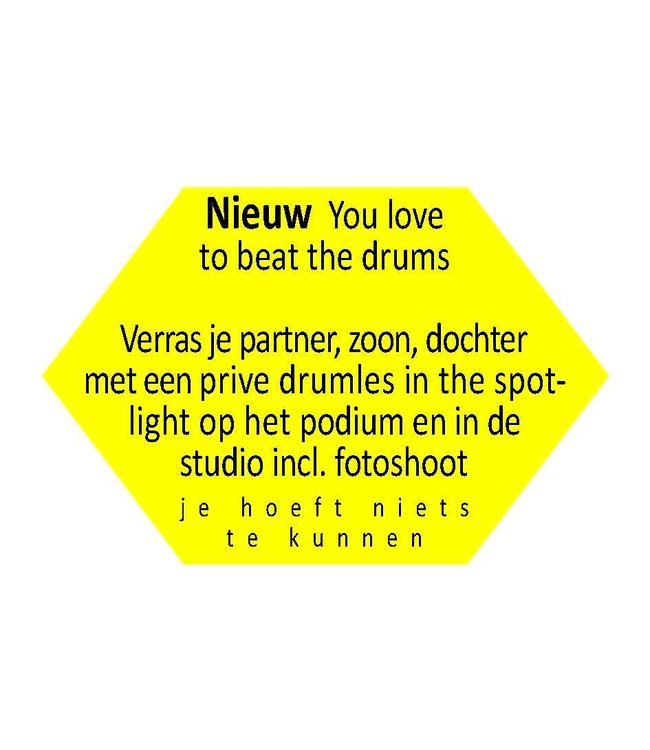 Busscherdrums You love to beat the drums