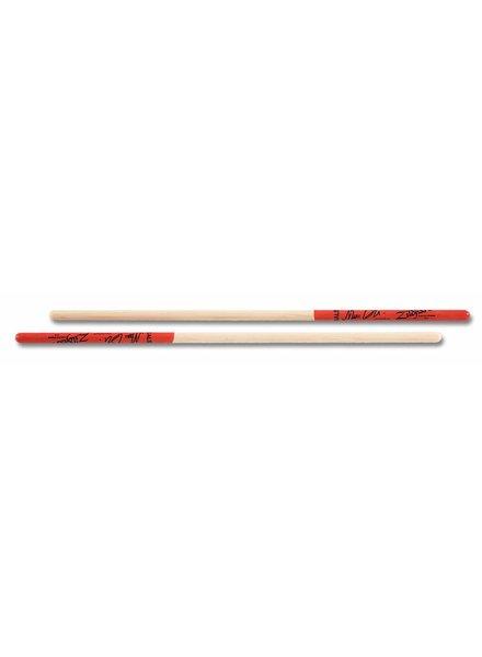 Zildjian drumsticks ASMQ timbales Artist series, Marc Quinones, Wood Tip, natural color, red dip ZIASMQ