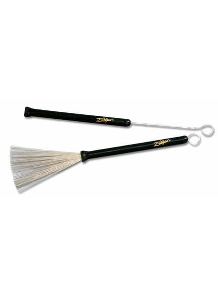 Zildjian Brushes, wire brush, professional retractable, black rubber h