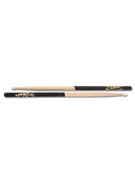 Zildjian Drumsticks, Dip series, 7A nylon, natural, black dip