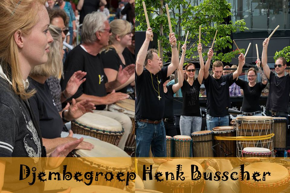 Busscherdrums djembe916 Djem group HB course children - young people <21