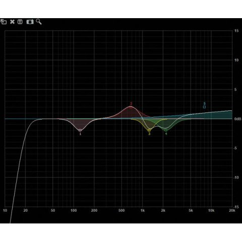 DAP audio pro DAP-Audio DCP-24 MKII Digital Cross Over 2-in, 4-out D2083