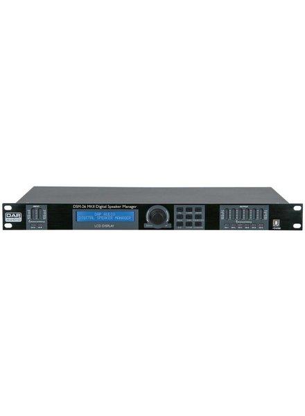 DAP audio pro DAP-Audio DSM-26 MKII 2way in 6way out Digital Crossover D2072