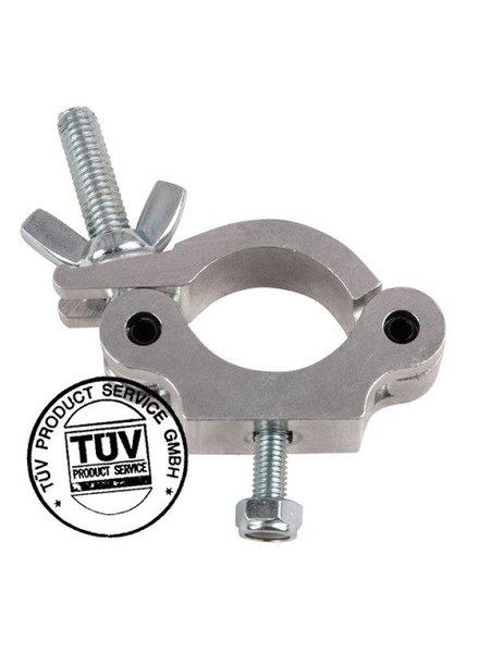 Showtec 50mm Halbkupplung Slimline SWL: 300 kg TÜV-Zertifizierung, Metall 70480