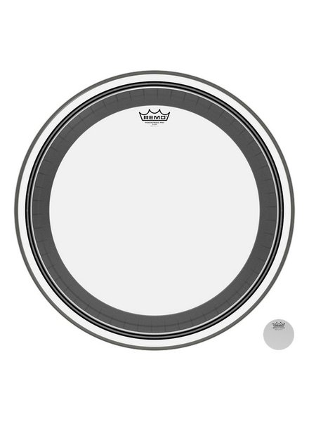 REMO PR 1324-00 Powerstroke Pro Clear 24 inch bass drum skin
