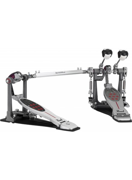 Pearl P-2052C Eliminator, Twin BD Pedal, Chain Drive Red Line