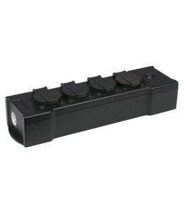 Showtec Powerbox 4C 1,5 m, 3 x 2,5mm2 Mehrfachsteckdosen Schuko 4-Wege-Verteilerleiste 90663
