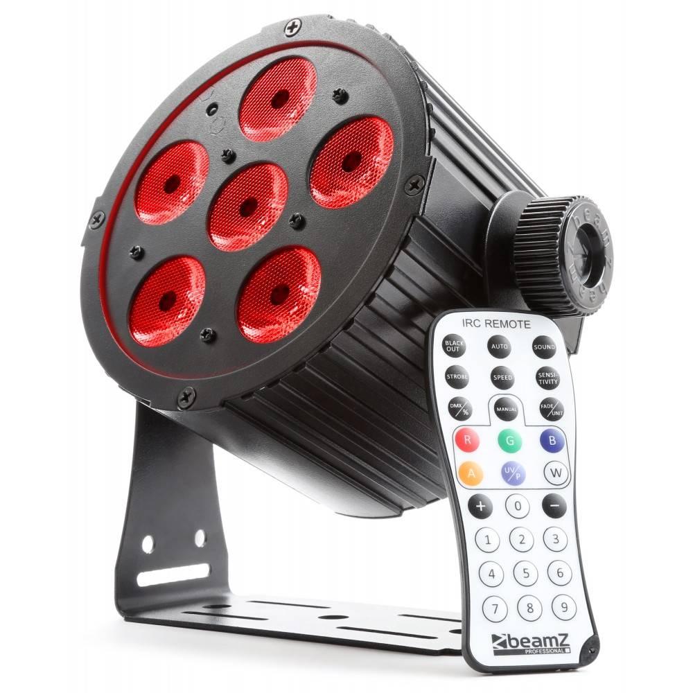Beamz  BAC406 Aluminum LED PAR Spot 6x 18W 6-in-1 LEDs 151 304