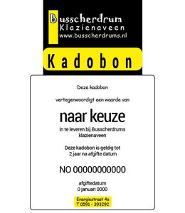 B System Busscherdrums Kado-bon €100,-