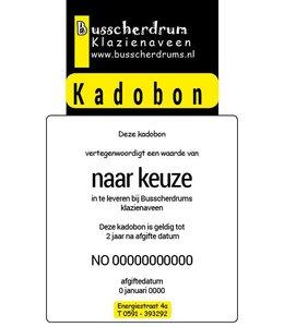 B System Busscherdrums Kado-bon €50.-