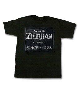 Zildjian ZIT4672 T-Shirt Quincy Weinlese-Zeichen, M, schwarz KTZIT4672
