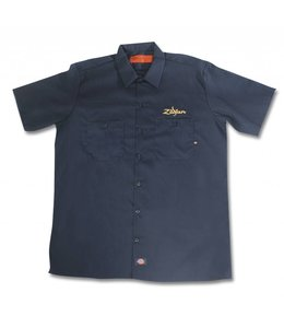 Zildjian ZIT4662 Dickies® Arbeit-Shirt Schwarz mit goldenen Logo, M
