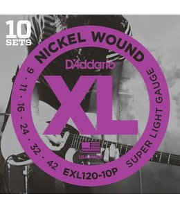 D'addario D'Addario - CDD EXL120-10P strings electric 09