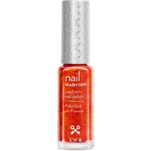 Wash Off Oranjebruine Glitter Glam Nagellak
