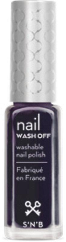 S'N'B Wash Off Blauw-Zwarte Nagellak