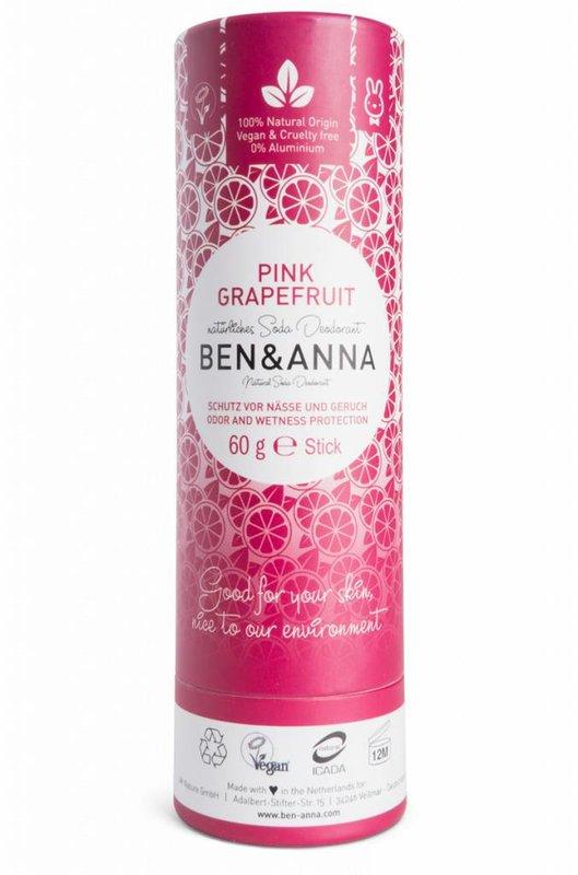 Ben & Anna Natuurlijke Eco Deo Pink Stick Grapefruit