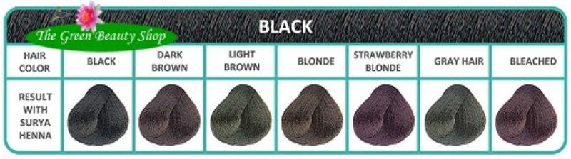 Surya Brasil Henna Cremekleuring Zwart