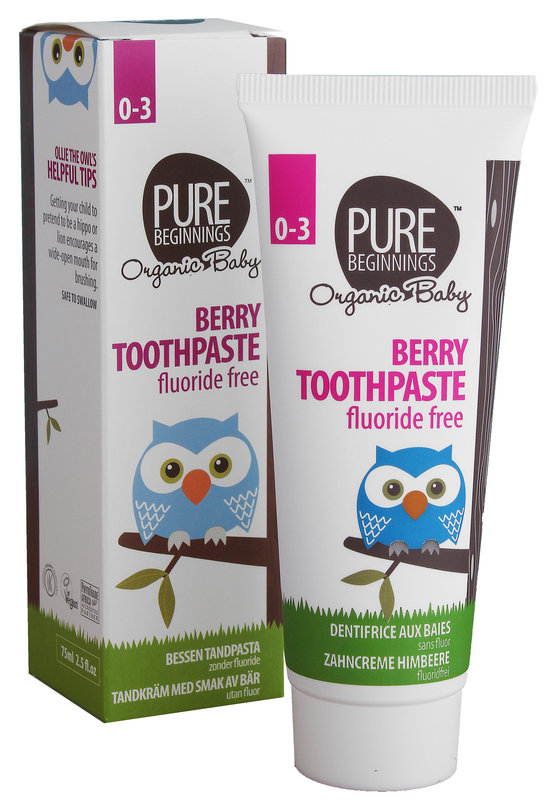 Pure Beginnings Kindertandpasta zonder fluoride Berry