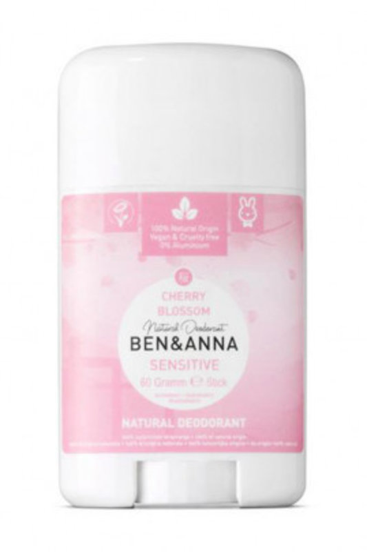 Ben & Anna  Natuurlijke Deodorant Stick Cherry Blossom Sensitive