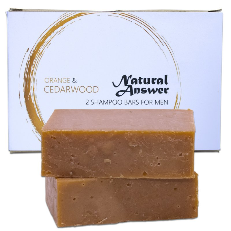 Natural Answer Shampoo Bar Sinaasappel & Cederhout