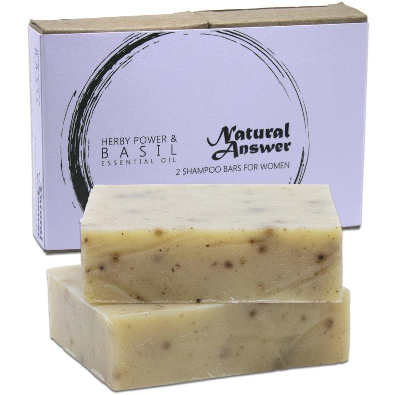 Natural Answer Shampoo Bar Kruidenpower & Basilicum