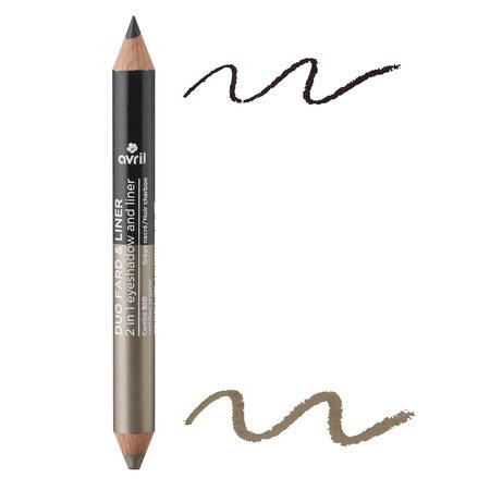 Avril 2 in 1 Eyeshadow & Liner Grège Nacré/Noir Charbon