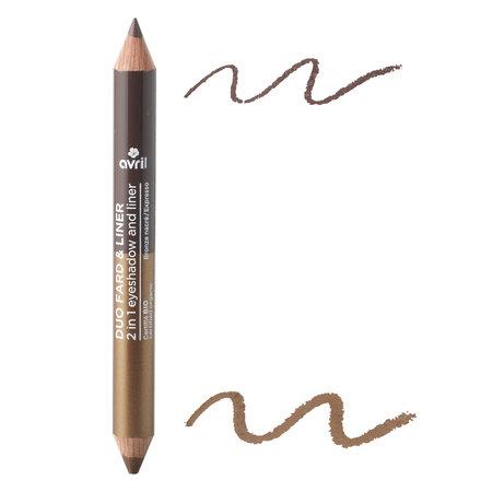 Avril 2-1 Eyeshadow & Liner Bronze Nacré/Expresso