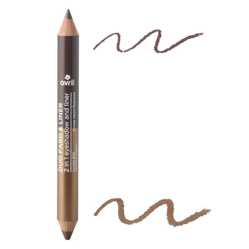 Avril Duo oogschaduw/eyelinerpotlood Brons-parelmoer + Bruin