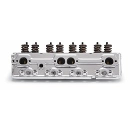 Edelbrock Cylinder Head, SBC, RPM, Angled Spark Plugs, 70cc, for Hydraulic Roller Cam, Polished